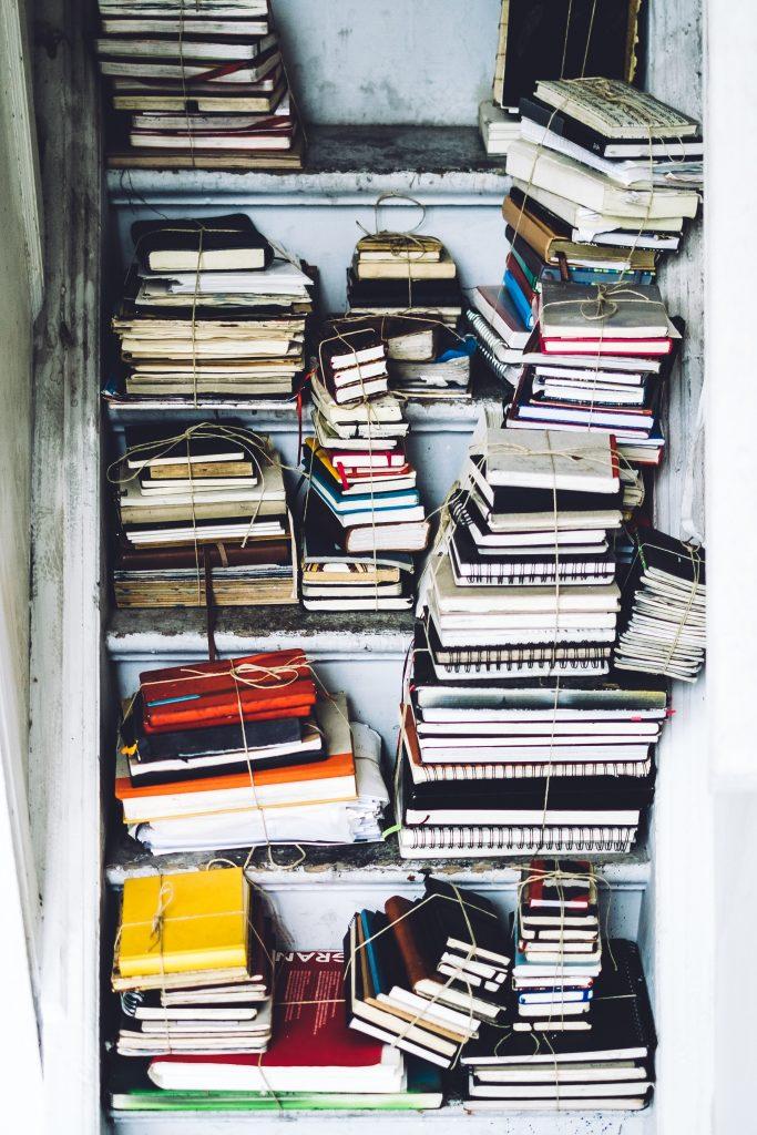 Stapel notitieboekjes